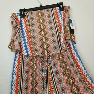 Strapless pant romper | XL | NWT | City Triangles
